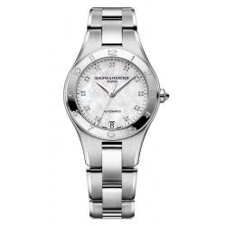 Buy Women's Baume & Mercier Watch Linea 10074 Diamonds Mother of Pearl Automatic