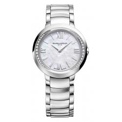 Buy Women's Baume & Mercier Watch Promesse 10160 Diamonds Mother of Pearl