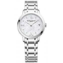 Buy Women's Baume & Mercier Watch Classima 10326 Diamonds Mother of Pearl
