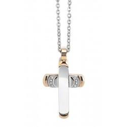 Buy Men's Boccadamo Necklace Man AGR163R Cross