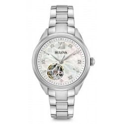 Buy Women's Bulova Watch Classic 96P181 Diamonds Mother of Pearl