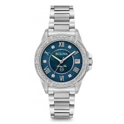 Buy Women's Bulova Watch Marine Star 96R215 Diamonds Mother of Pearl