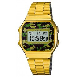 Buy Casio Vintage Unisex Watch A168WEGC-3EF