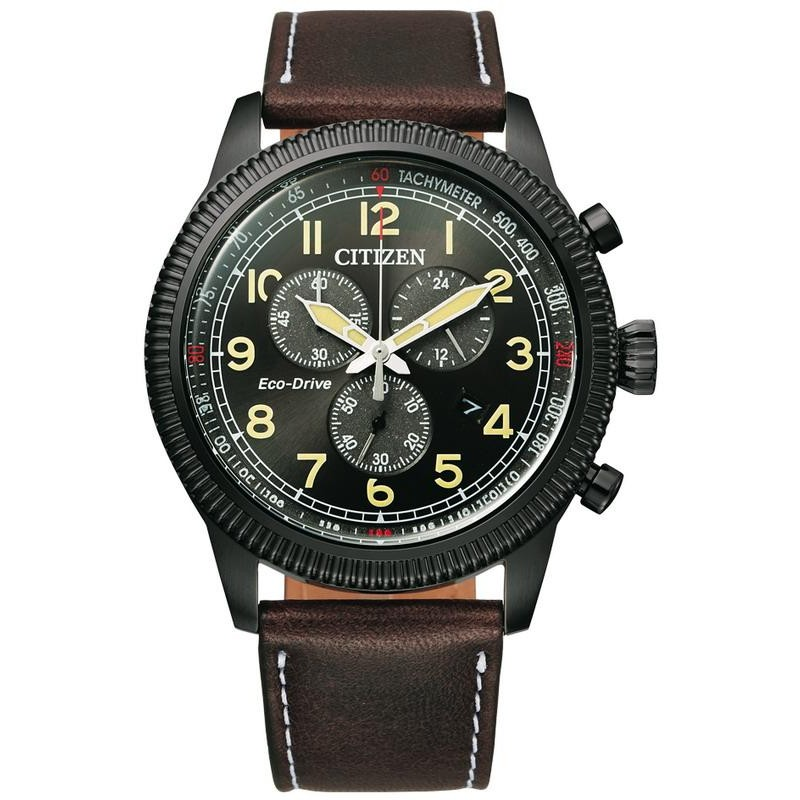 Men S Citizen Watch Aviator Chrono Eco Drive At2465 18e Crivelli Shopping