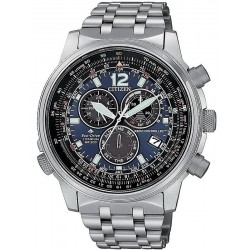 Men's Citizen Watch Radio Controlled Chrono Pilot Super Titanium CB5850-80L