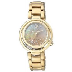 Buy Women's Citizen Watch Eco-Drive EM0325-55P Diamonds Mother of Pearl