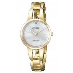 Buy Women's Citizen Watch Eco-Drive EM0432-80Y Diamond Mother of Pearl