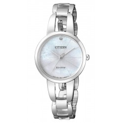 Buy Women's Citizen Watch Eco-Drive EM0430-85N Diamond Mother of Pearl