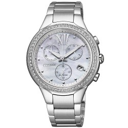 Women's Citizen Watch Chrono Eco-Drive FB1321-56A Mother of Pearl