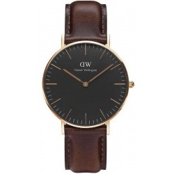 Buy Unisex Daniel Wellington Watch Classic Black Bristol 36MM DW00100137