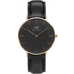 Buy Unisex Daniel Wellington Watch Classic Black Sheffield 36MM DW00100139