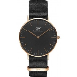 Buy Unisex Daniel Wellington Watch Classic Black Cornwall 36MM DW00100150