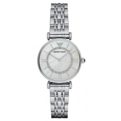 Women's Emporio Armani Watch Gianni T-Bar AR1908 Mother of Pearl