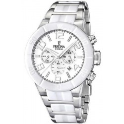 Buy Men's Festina Watch Ceramic F16576/1 Quartz Chronograph