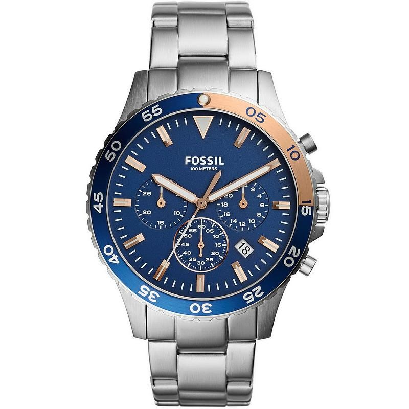 Men s Fossil Watch Crewmaster CH3059 Chronograph Quartz - Crivelli ... f1e934f173c1