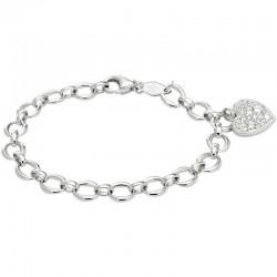 Women's Fossil Bracelet Sterling Silver JFS00153040 Heart