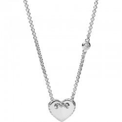 Buy Women's Fossil Necklace Sterling Silver JFS00425040 Heart