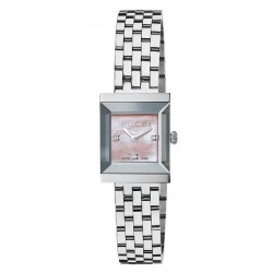 Buy Women's Gucci Watch G-Frame Medium YA128401 Diamonds Mother of Pearl