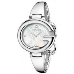 Women's Gucci Watch Guccissima Large YA134303 Diamonds Mother of Pearl