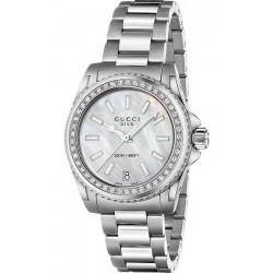 Buy Women's Gucci Watch Dive Medium YA136406 Diamonds Mother of Pearl