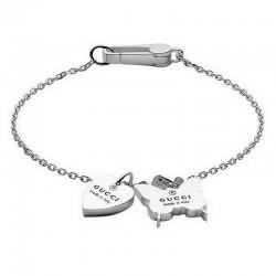 Women's Gucci Bracelet Trademark YBA223516001018 Heart and Butterfly