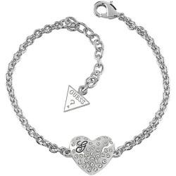 Buy Women's Guess Bracelet Glossy Hearts UBB51492 Heart