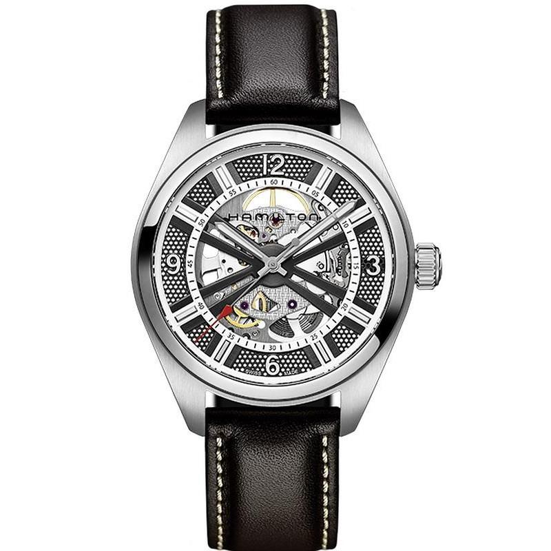 Men's Hamilton Watch Khaki Field Skeleton Auto H72515585 - Crivelli Shopping