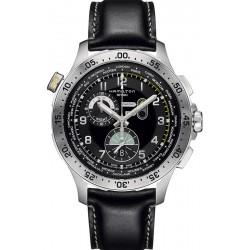 Men's Hamilton Watch Khaki Aviation Worldtimer Chrono Quartz H76714735