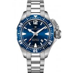 Men's Hamilton Watch Khaki Navy Frogman Auto H77705145