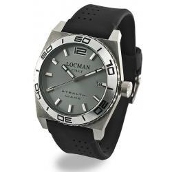 Men's Locman Watch Stealth Quartz 021100AK-AGKSIK