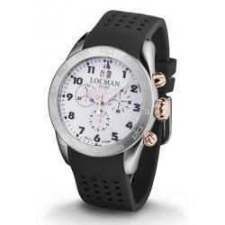 Buy Men's Locman Watch Isola d'Elba Quartz Chronograph 0460M08-0RWHBKSK
