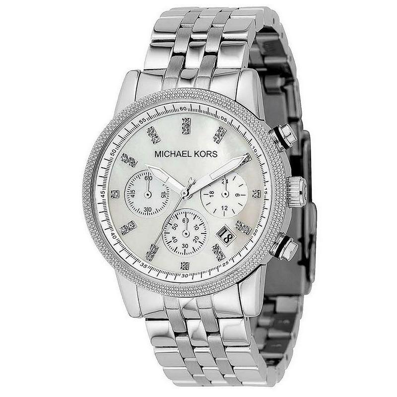 Women's Michael Kors Watch Ritz MK5020 Chronograph Mother of Pearl Crivelli Shopping