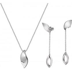 Buy Womens Morellato Necklace + Earrings Foglia SAKH48