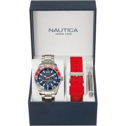 Men's Nautica Watch NST 07 Box Set NAI16500G Multifunction