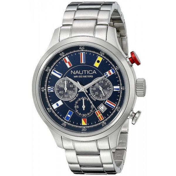 Buy Men's Nautica Watch NCT 16 Flag NAI17516G Chronograph