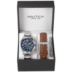 Men's Nautica Watch NCC 01 Box Set NAI18509G Chronograph