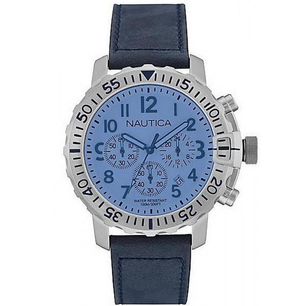 Buy Men's Nautica Watch NMS 01 USS NAI19534G Chronograph
