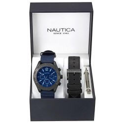 Men's Nautica Watch NST 402 Box Set NAI22508G Chronograph