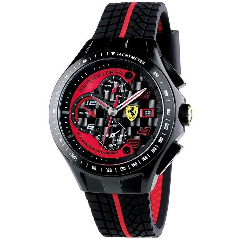 Men S Scuderia Ferrari Watch Race Day Chrono 0830077 Crivelli Shopping
