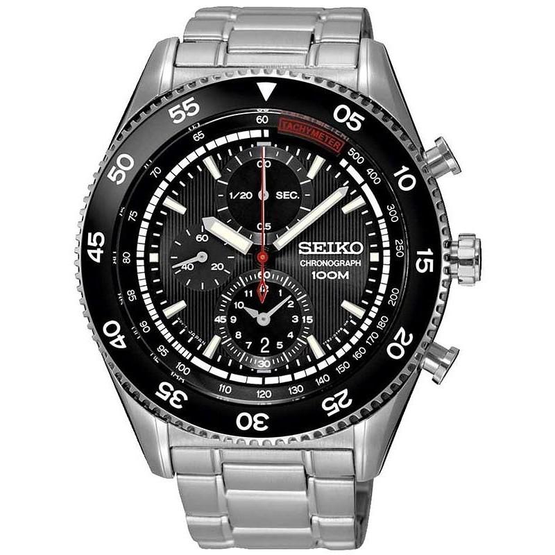Men's Seiko Watch SNDG57P1 Quartz Chronograph Crivelli Shopping