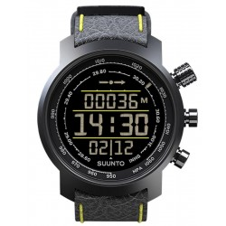 Buy Suunto Elementum Terra Black/Yellow Leather Men's Watch SS019997000