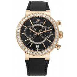 Buy Women's Swarovski Watch Citra Sphere Chrono Black Rose Gold Tone 5055209