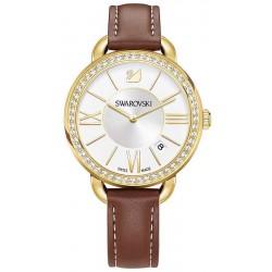 Women's Swarovski Watch Aila Day Brown Yellow Gold Tone 5095940