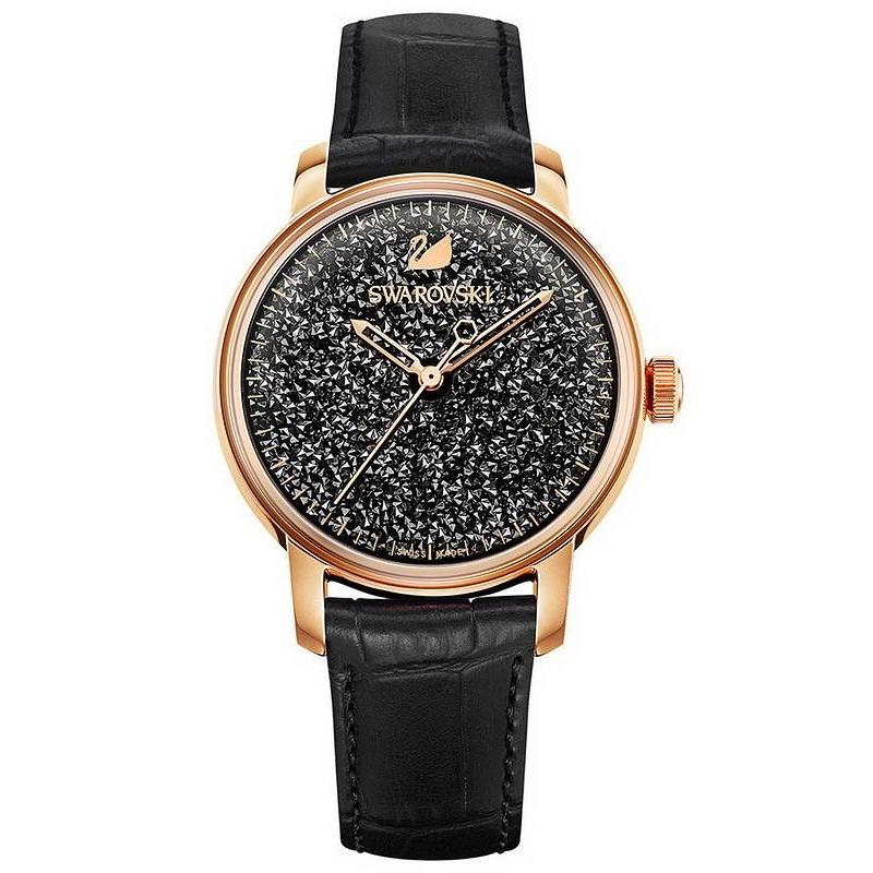Women S Swarovski Watch Crystalline Hours Black 5218902 Automatic Crivelli Shopping