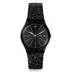 Buy Womens Swatch Watch Gent Glitternoir GB755