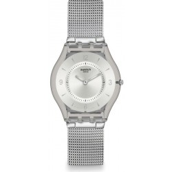 Buy Unisex Swatch Watch Skin Classic Metal Knit SFM118M