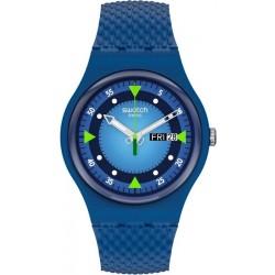 Unisex Swatch Watch New Gent Blue Blend SO29N701