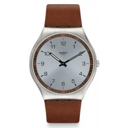 Buy Mens Swatch Watch Skin Irony Skin Suit Brown SS07S108