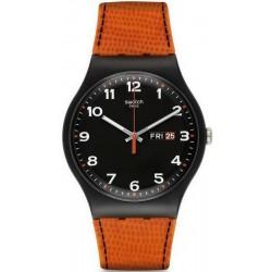 Men's Swatch Watch New Gent Faux Fox SUOB709