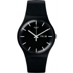Unisex Swatch Watch New Gent Mono Black SUOB720